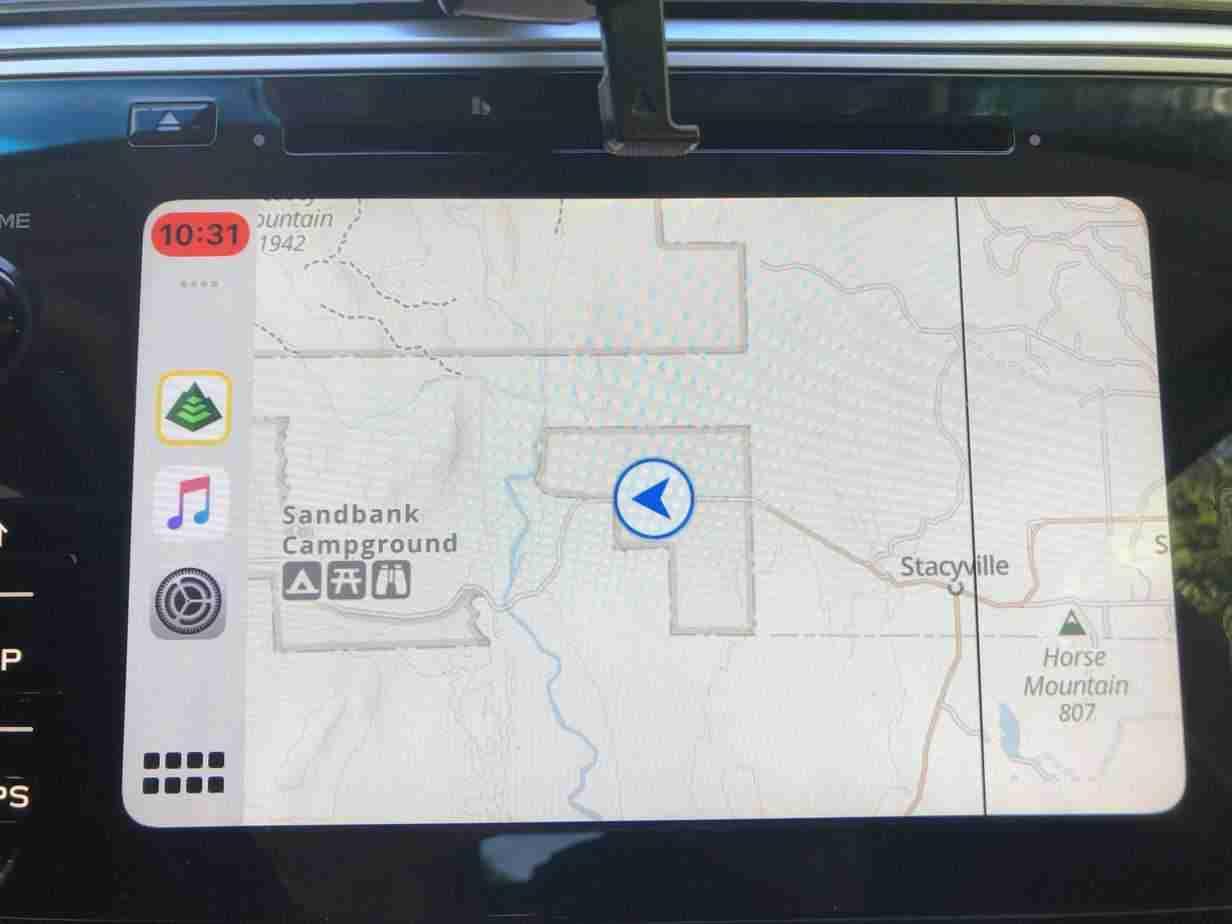 GaiaGPS in car navigation