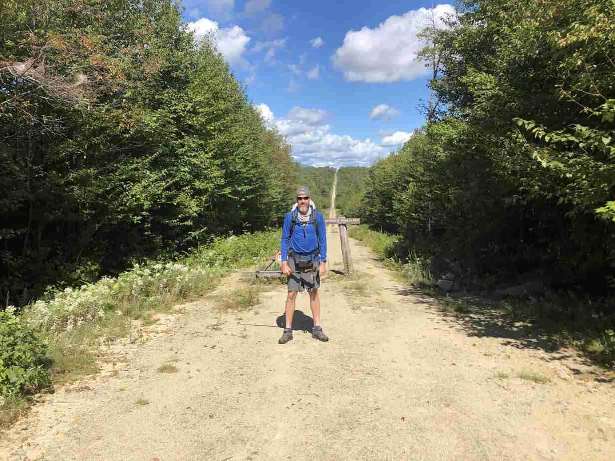 Hiker at Katahdin