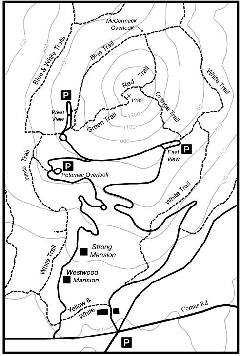Barnard Parking Location Map