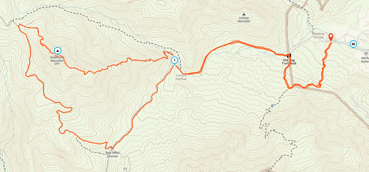 Old Rag Map
