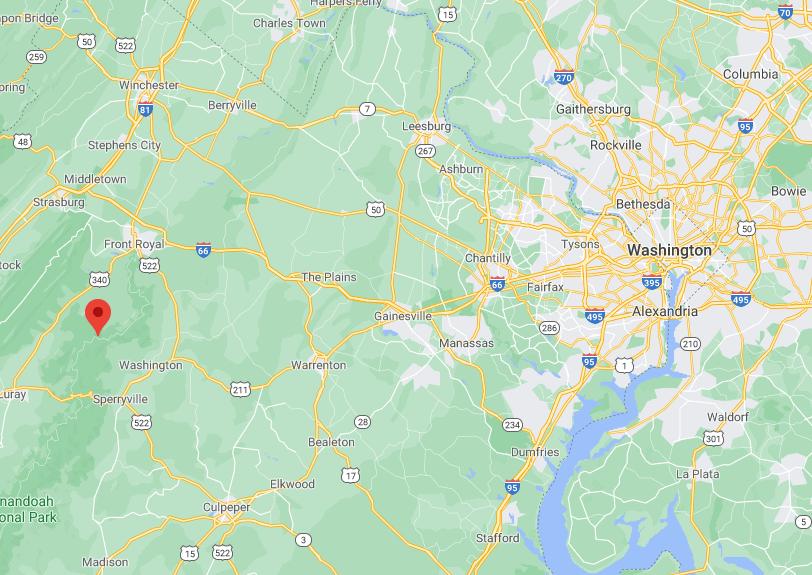 Robertson Mountain Map