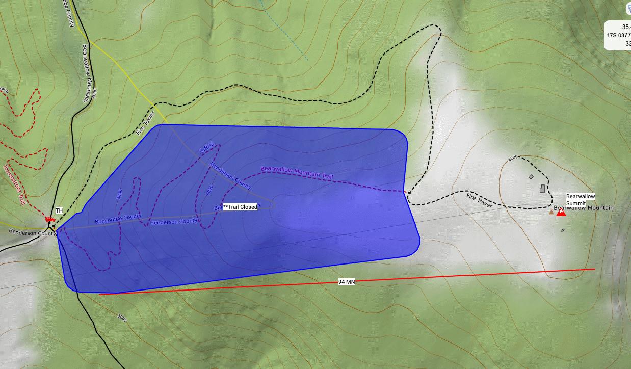 Bearwallow Map