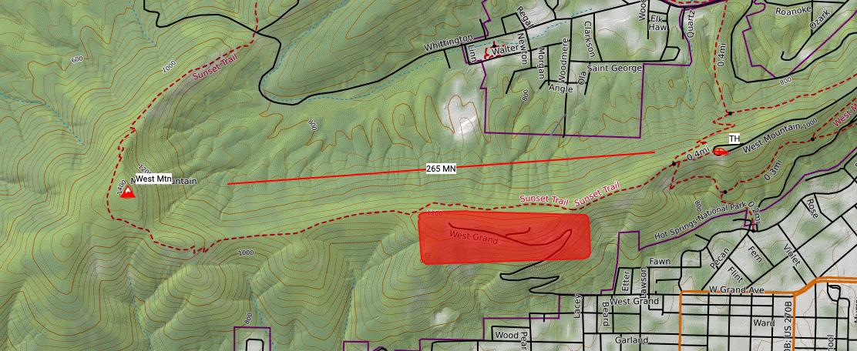 Hot Springs Map